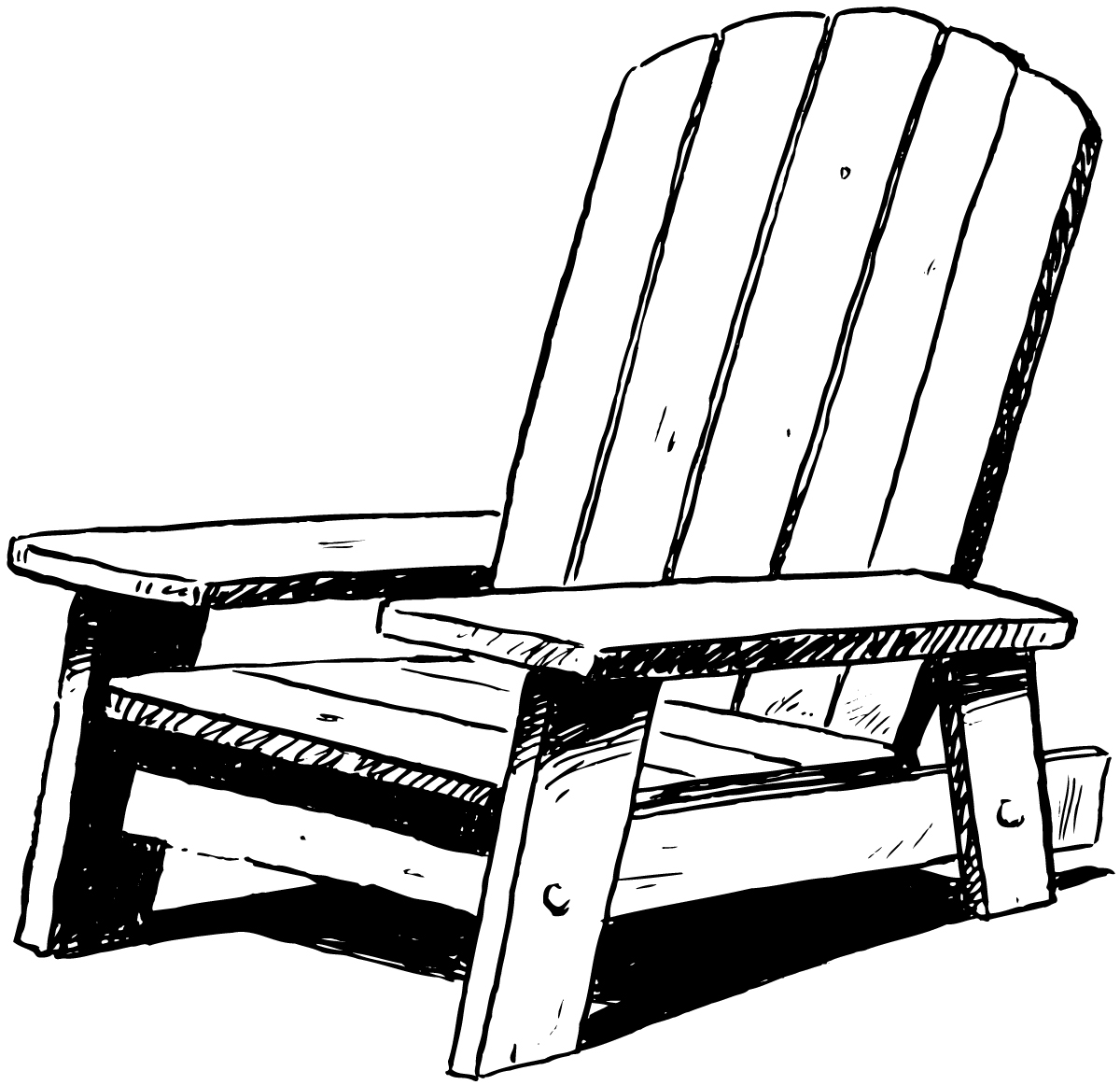 1200x1162 Sofa Wonderful Adirondack Chairs Clipart Posted By Empty Nester