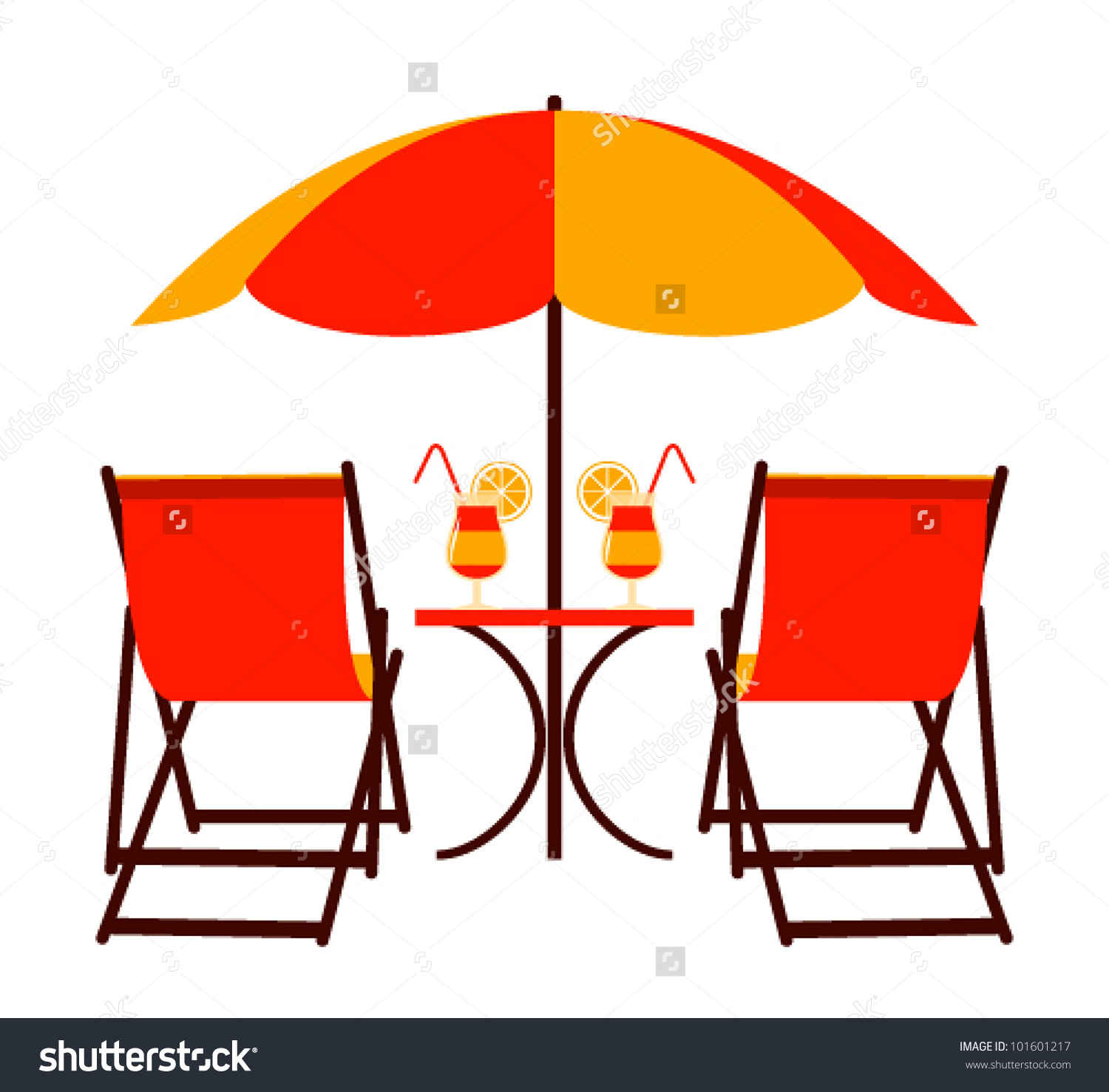 1500x1477 Clipart Beach Chair And Umbrella