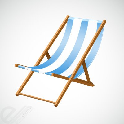 400x400 Beach Chair Clip Art, Vector Beach Chair