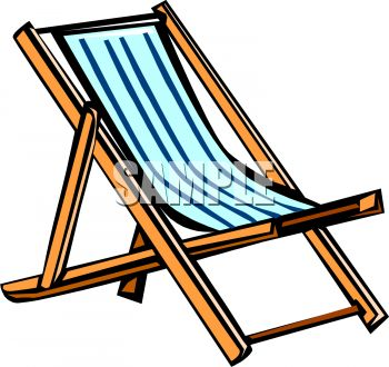 350x330 Beach Chair Clip Art
