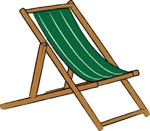 300x263 Beach Chair Clipart Image