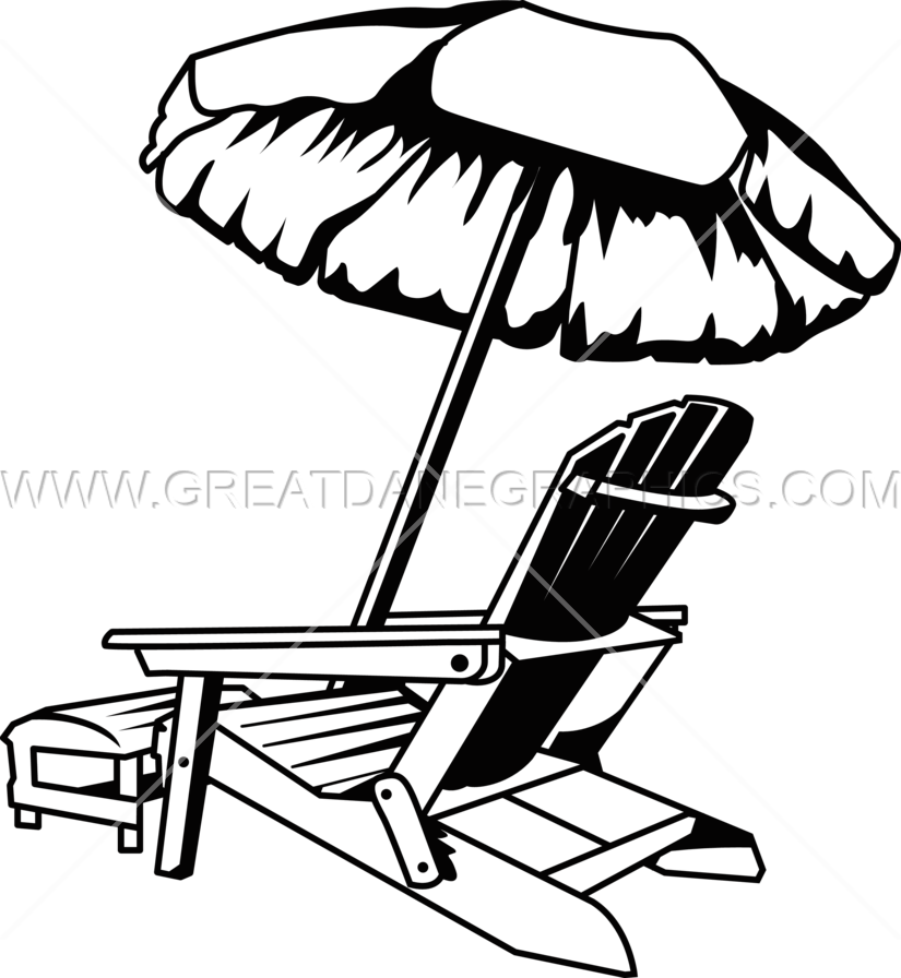 825x896 Beach Chair Vacation Production Ready Artwork For T Shirt Printing