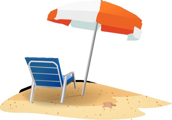 600x417 Clip Art Beach Umbrella And Chair Clipart