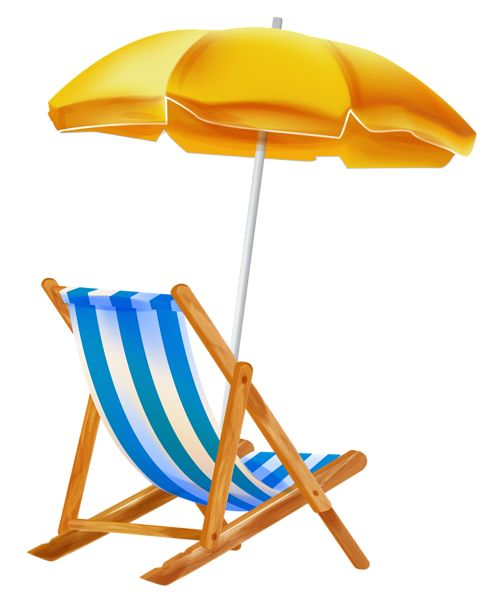 499x600 Vacation Clipart Beach Chair