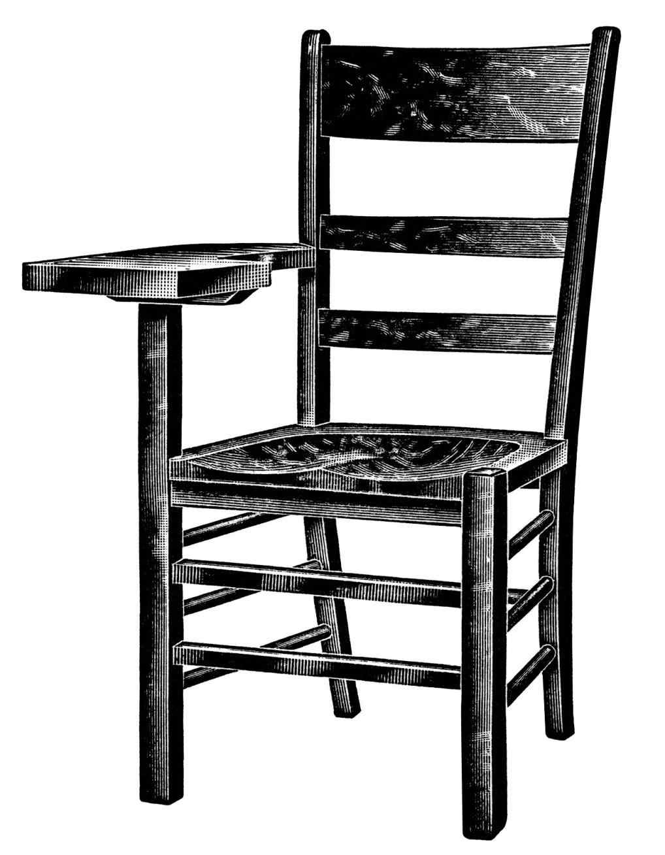 1018x1309 Wooden Chair Clipart Xqnlinfo