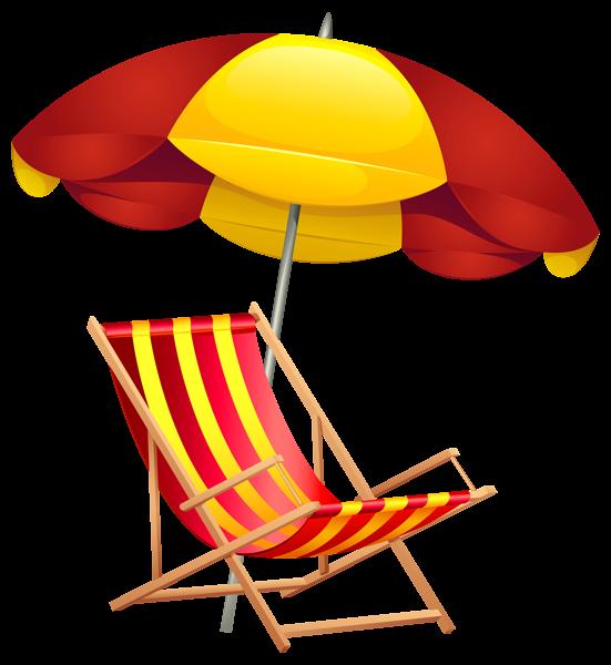 551x600 Beach Chair And Umbrella Clipart