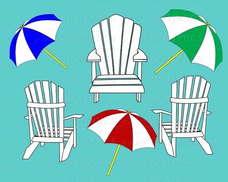 800x640 Beach Chair Clip Art