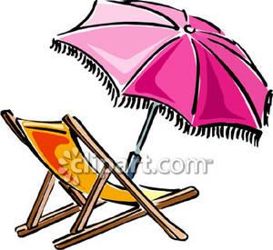 300x275 Beach Chair And Pink Umbrella