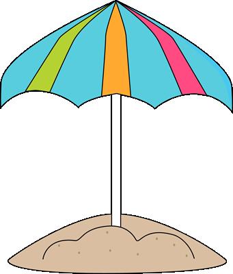 341x400 Clip On Beach Umbrella Clipart
