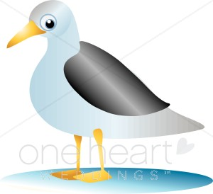 300x274 Seagull Clip Art Beach Wedding Clipart