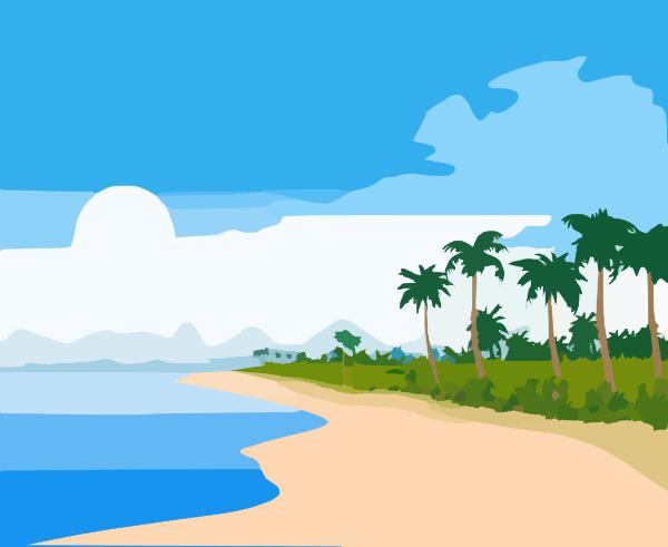 600x491 Beach Clip Art