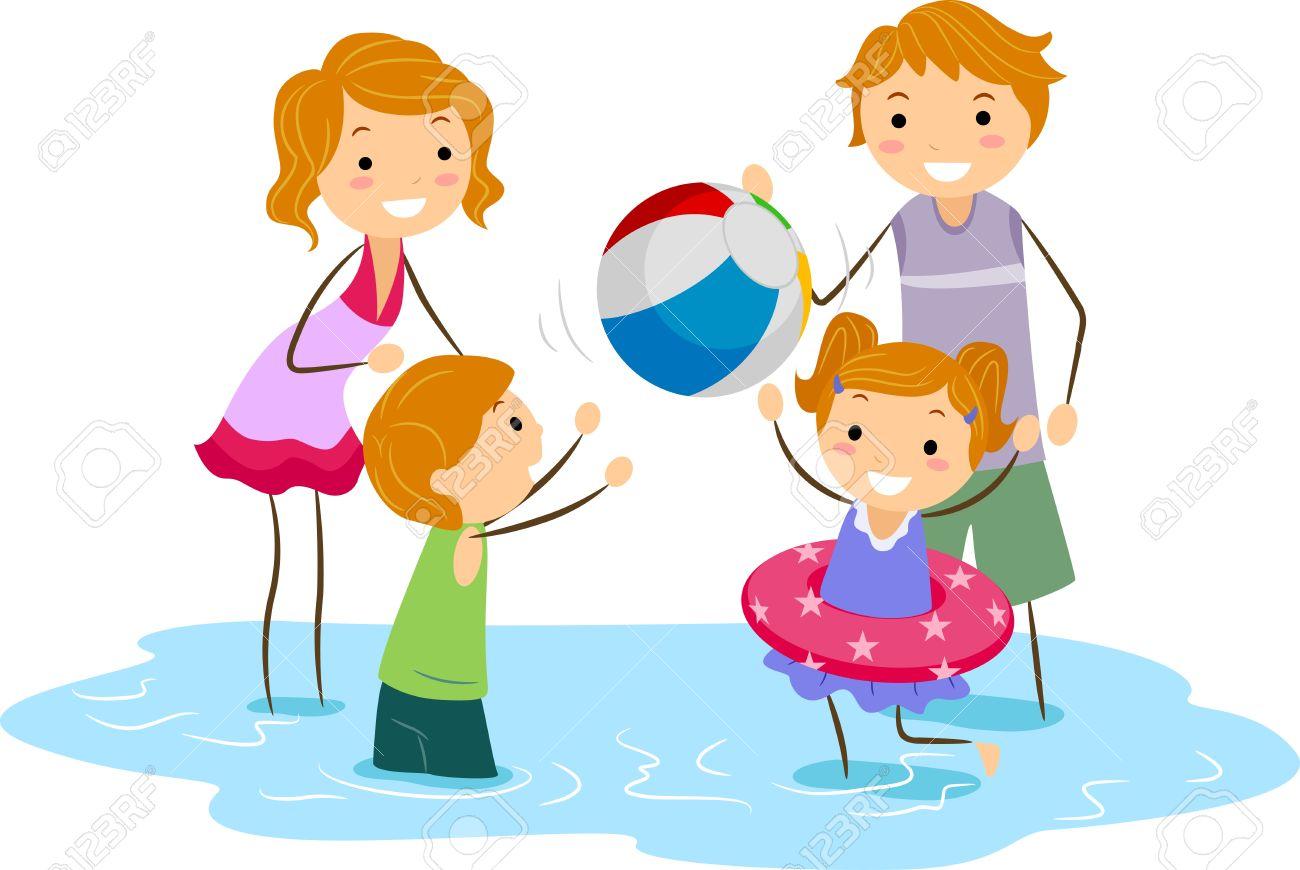 1300x870 Beach Clipart Family Picnic