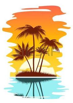 236x331 Clip Art Image Pirate's Treasure Chest On A Tropical Beach
