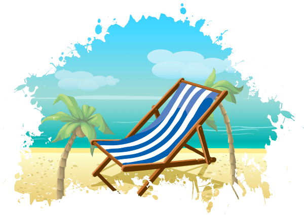 600x425 Free Summer Beach Vector Background 123freevectors