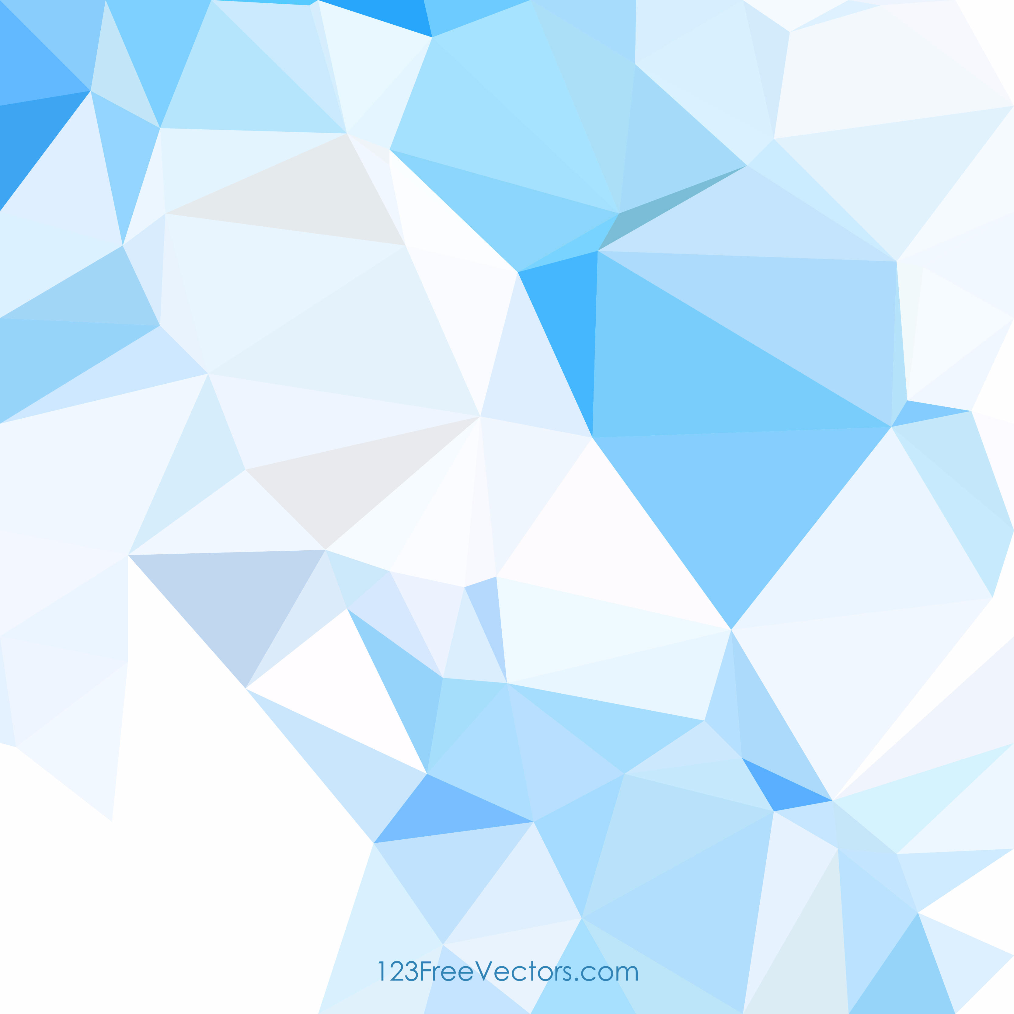 3333x3333 Low Poly Light Blue Background Clip Art 123freevectors