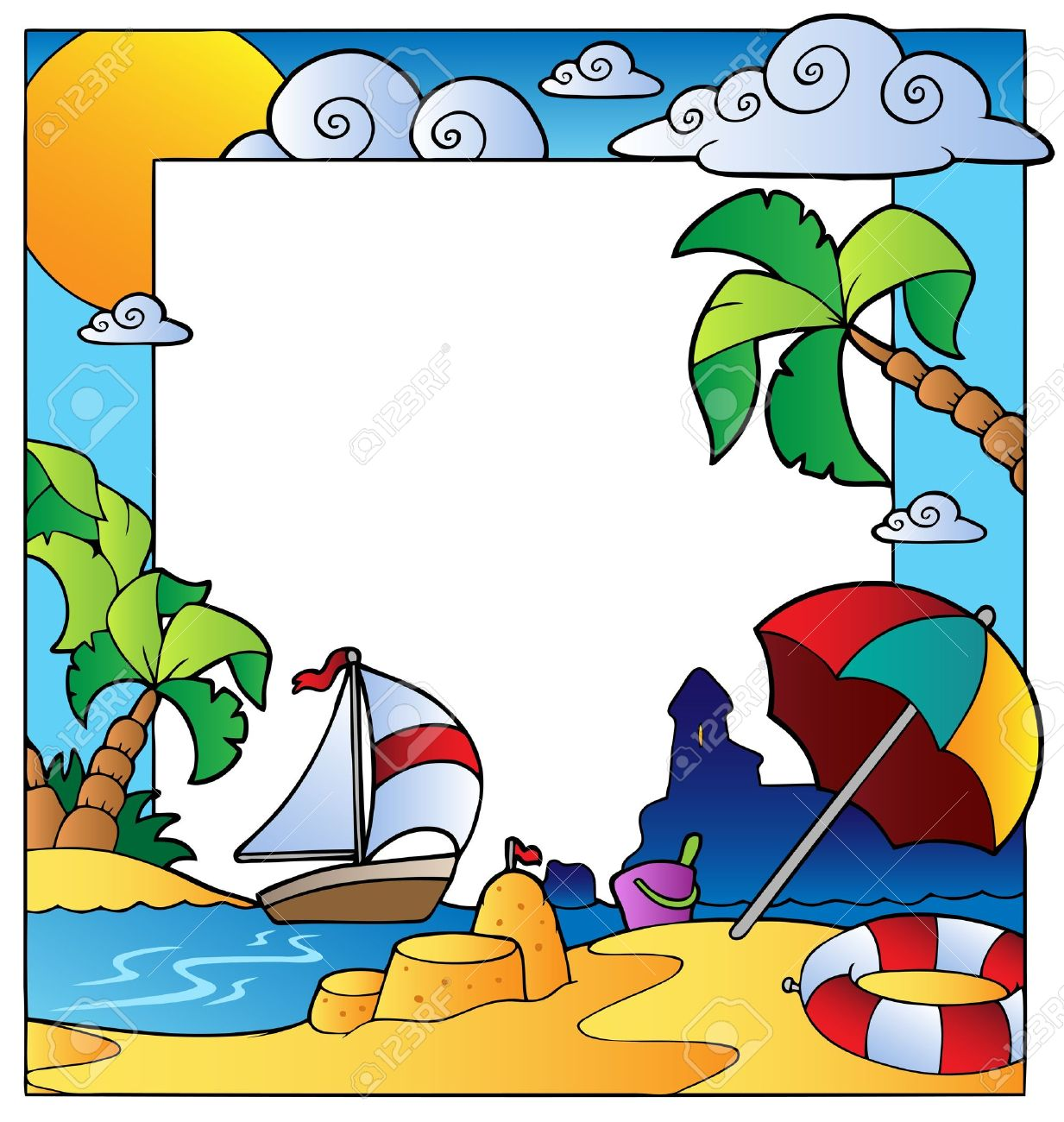 1233x1300 Beach Clipart Summer Time