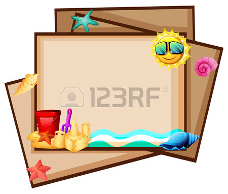 450x382 Blank Poster With Beach View At Daytime Royalty Free Cliparts