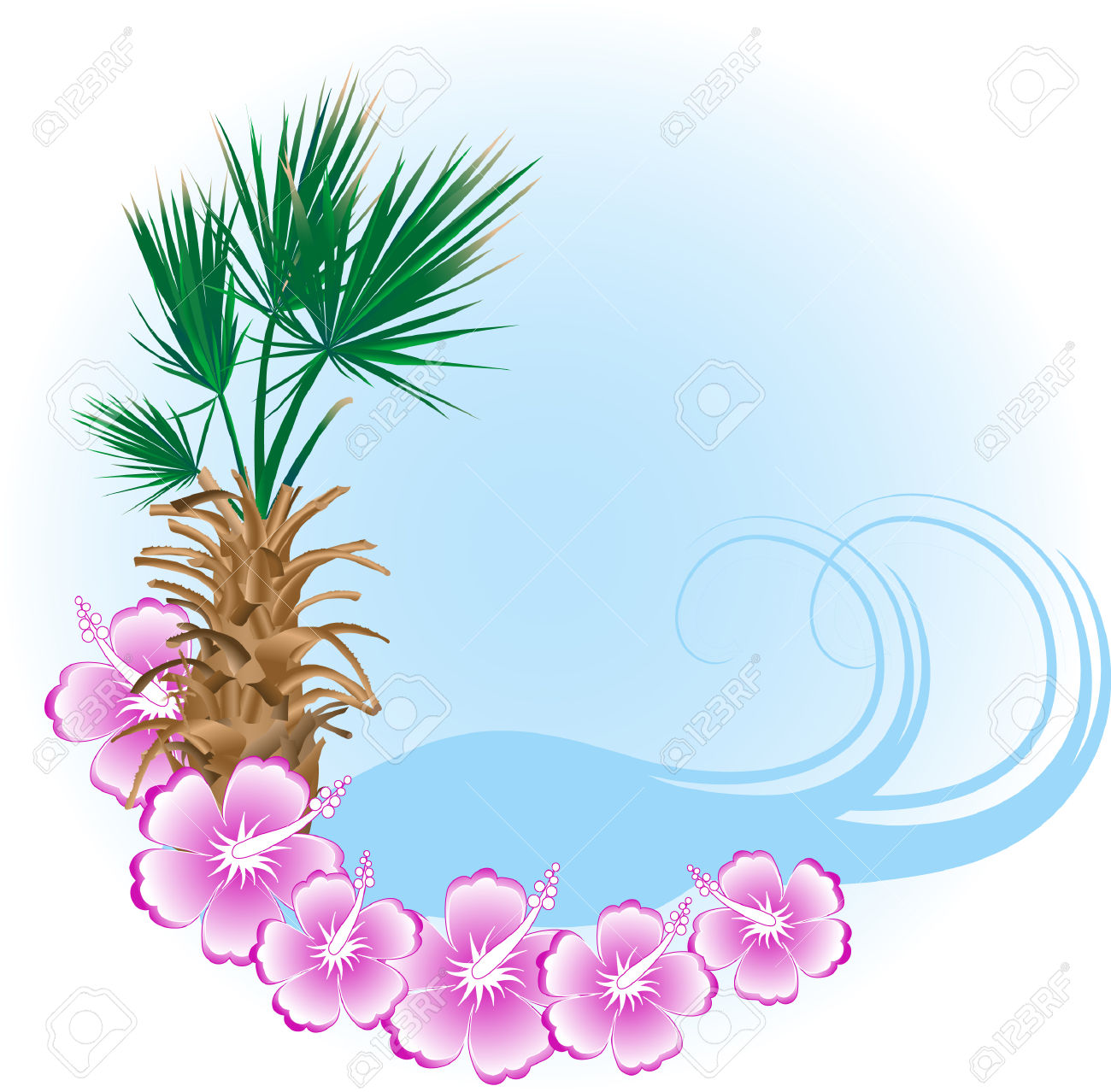 1300x1278 Blue Flower Clipart Beach Flower