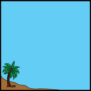 300x300 Palm Tree Clipart Frame