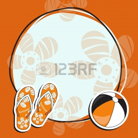 450x450 Pretty Funny Summer (Beach) Frame Vector Royalty Free Cliparts