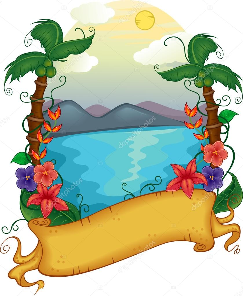 839x1023 Resort Clipart Beach Theme
