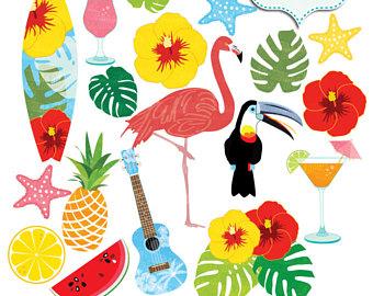 340x270 Hawaiian Summer Clipart. Hawaii Luau Beach Clip Art. Hibiscus