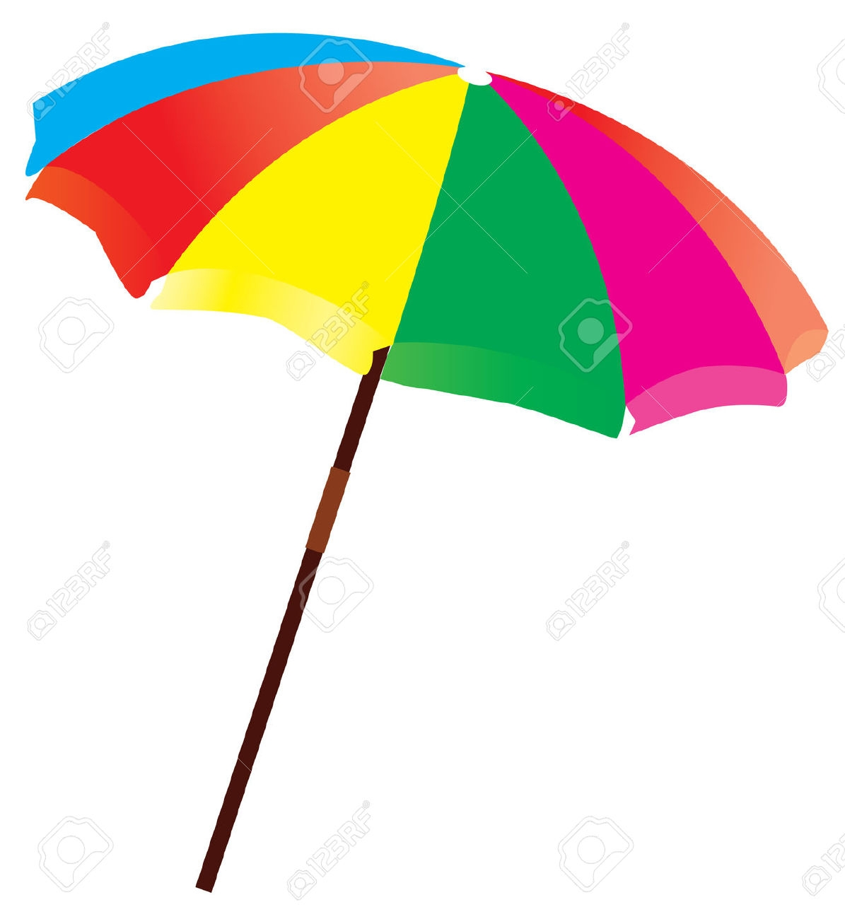 1195x1300 Colorful Beach Umbrella Clipart