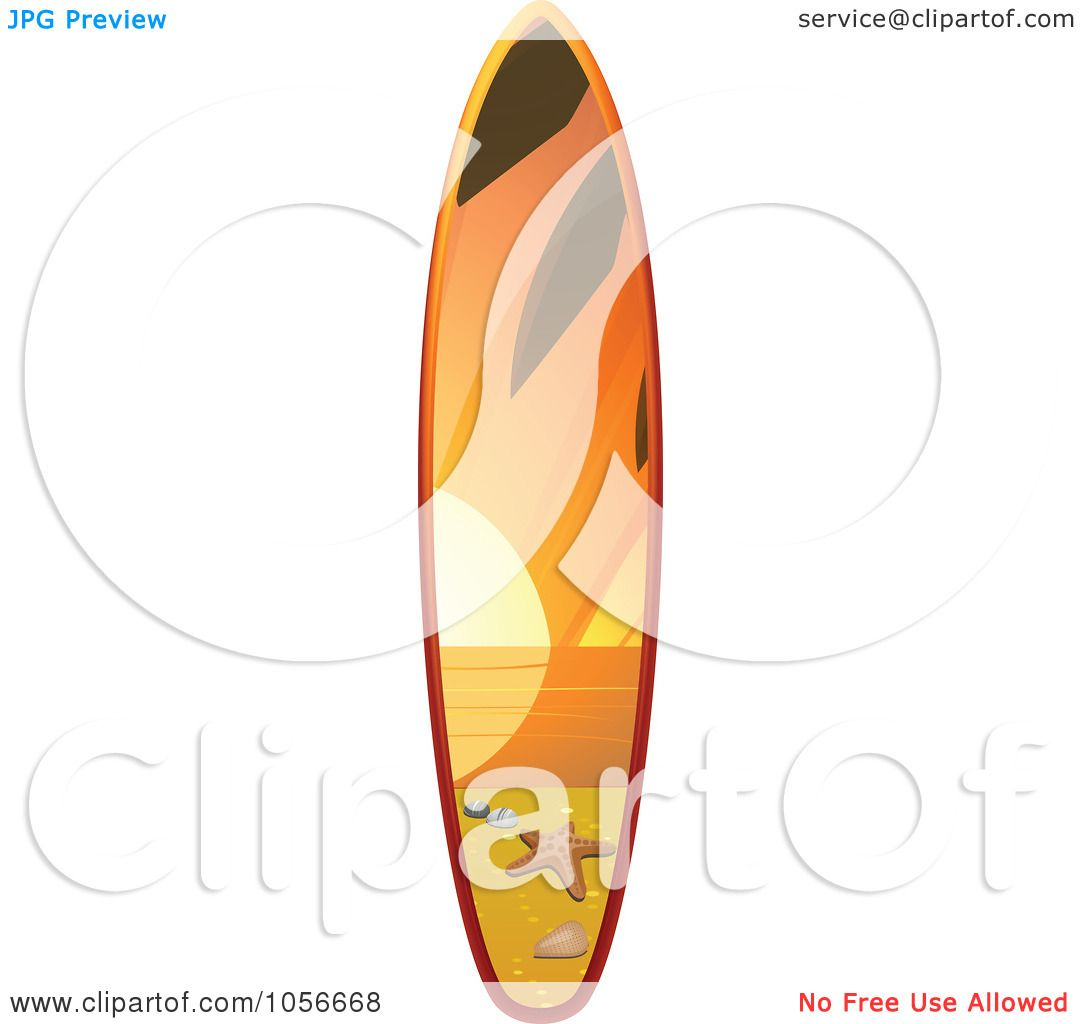 1080x1024 Royalty Free Vector Clip Art Illustration Of A 3d Shiny Surfboard