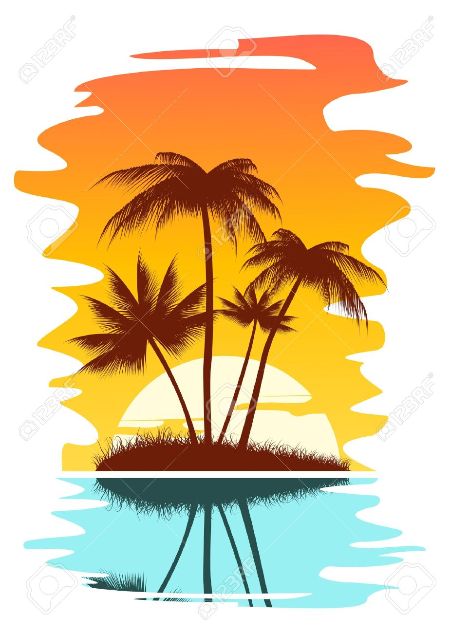 924x1300 Beach Clipart Sunset