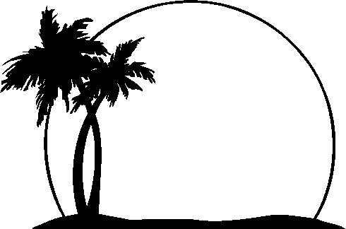 490x324 Beach Clipart Black And White