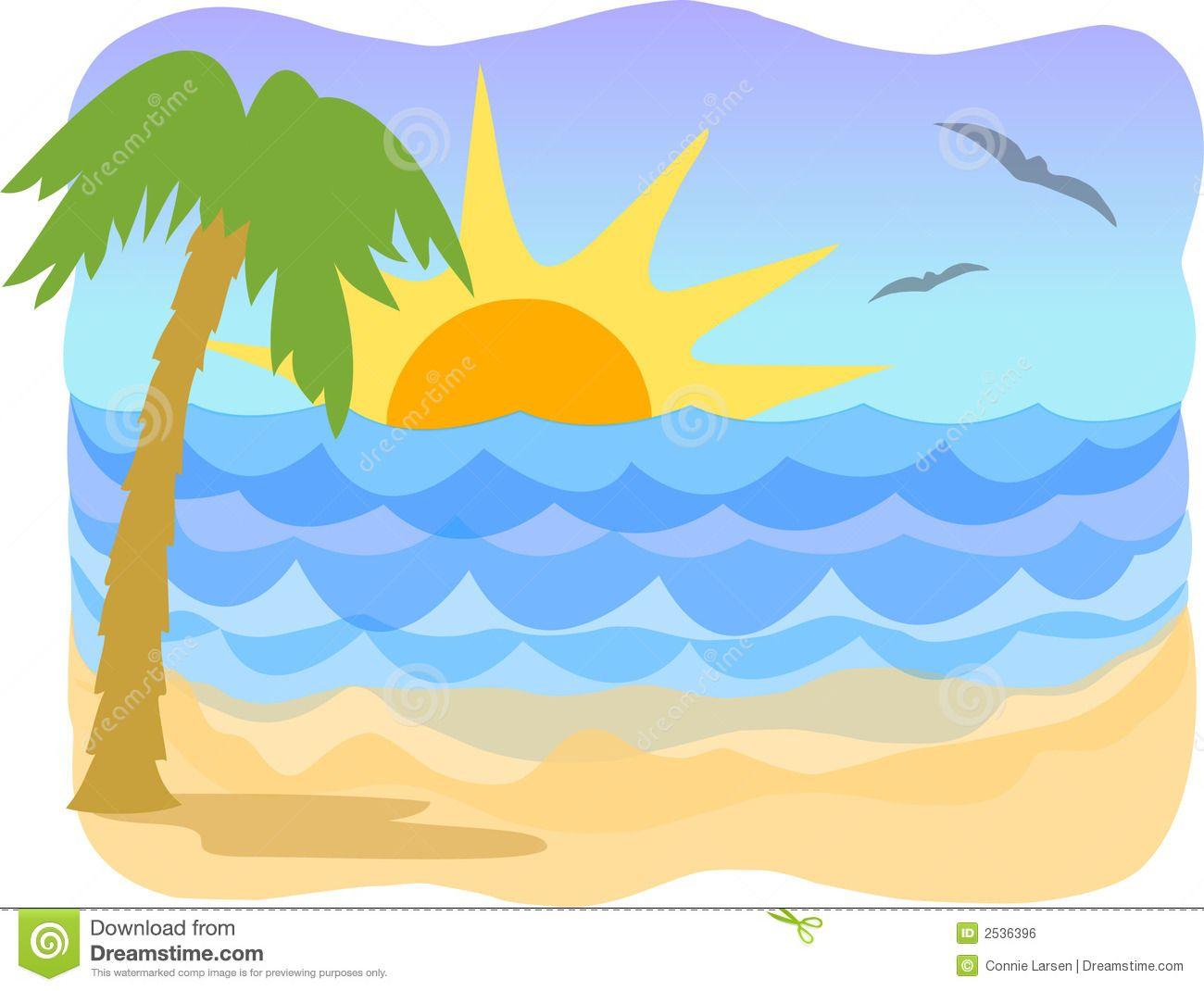 1300x1070 Clip Art Sunrise Ocean Beach Scene With Sunrise Clipart Kid