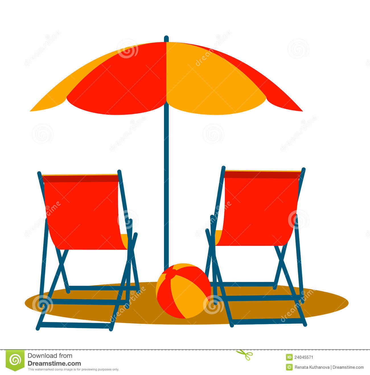 1300x1317 Beach Chairs Clipart