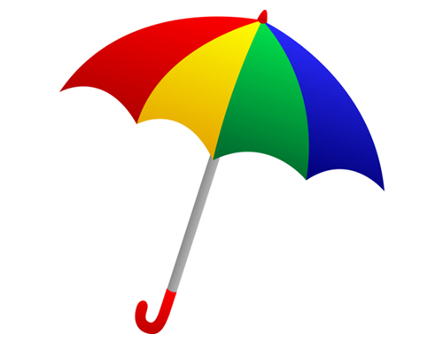 500x395 Vector Clipart Umbrella