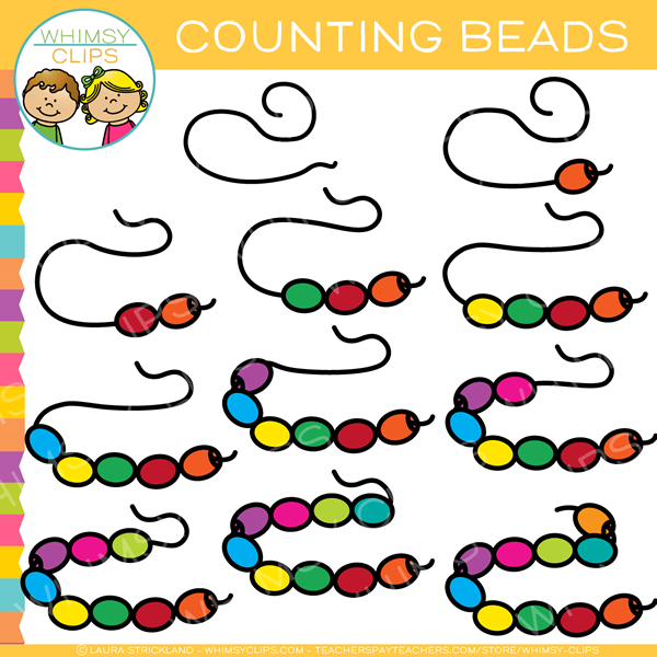 600x600 Counting Beads Clip Art , Images Amp Illustrations Whimsy Clips