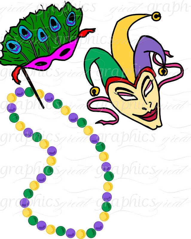 639x800 Mardi Gras Beads Clipart