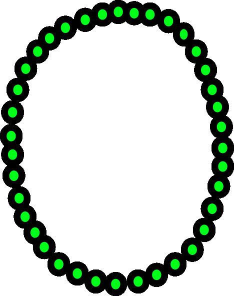 468x592 Necklace Green Beads Clip Art