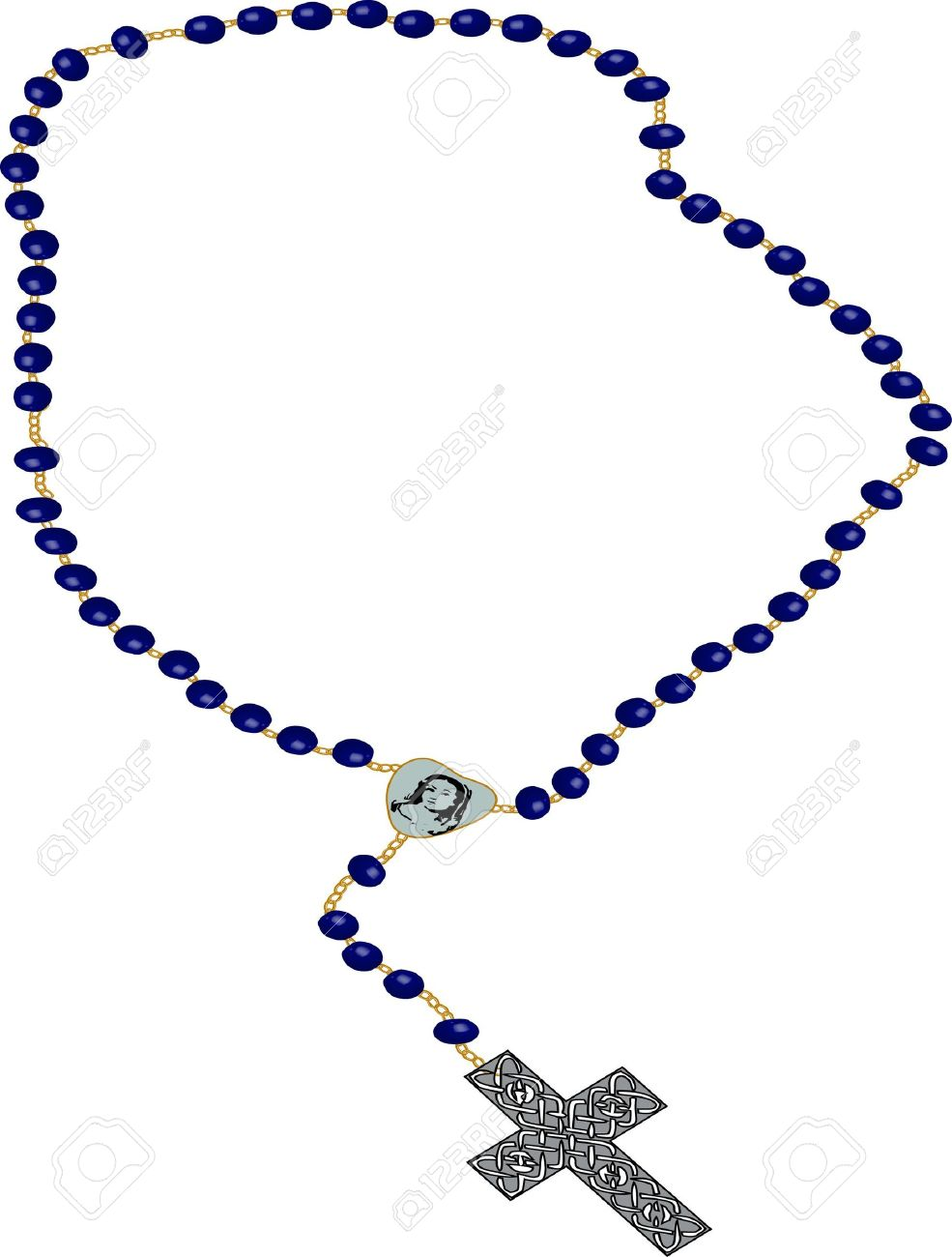 985x1300 Rosary Beads Vector Free