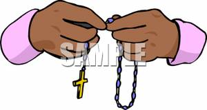 300x160 Clip Art Of Hands With Rosary Beads Cliparts