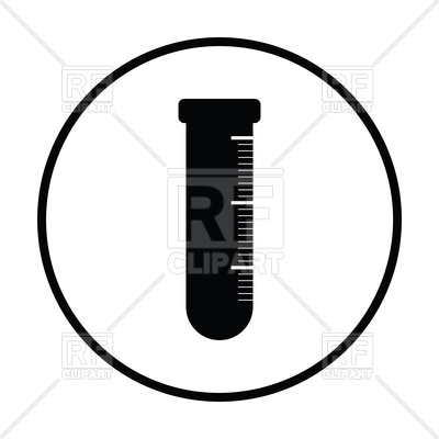 400x400 Thin Circle Design Icon Of Chemistry Beaker Royalty Free Vector