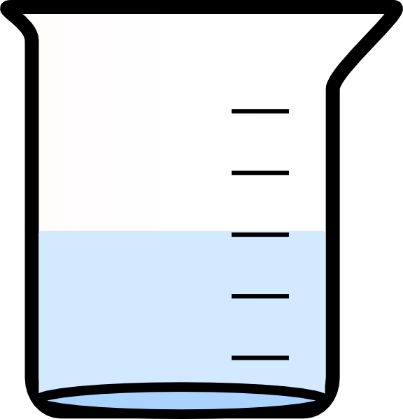 576x600 Beaker With Water Clip Art