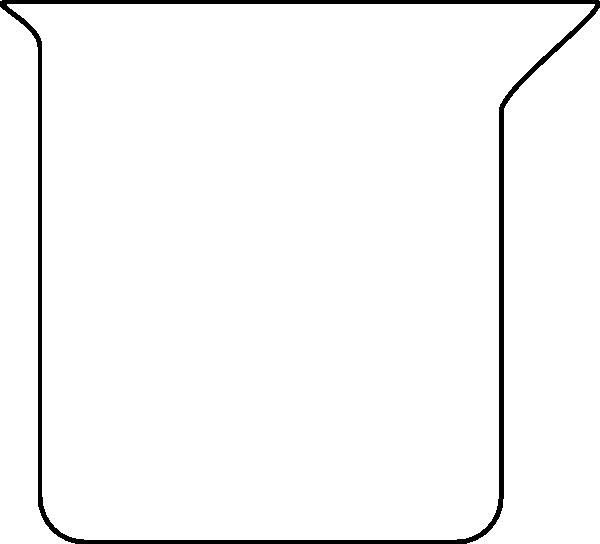 600x544 Beaker Outline Clip Art