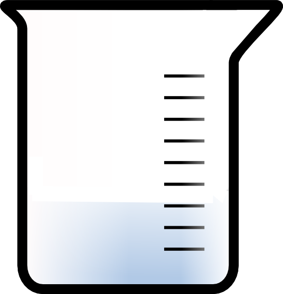 576x599 Beaker With Fewer Interior Lines 2 Clip Art