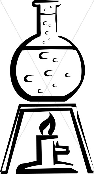 332x612 Bubbling Beaker Over Candle Christian Classroom Clipart