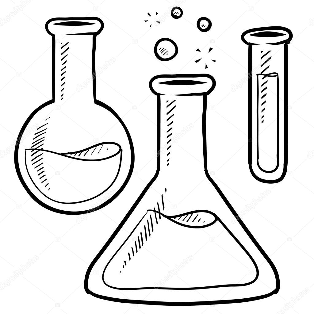 1024x1024 Science Beakers And Test Tubes Clipart Amp Science Beakers And Test