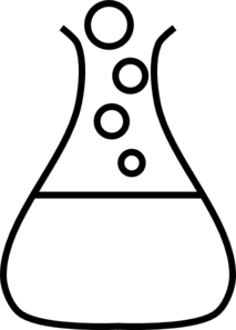 213x297 White Bubble Flask Clip Art