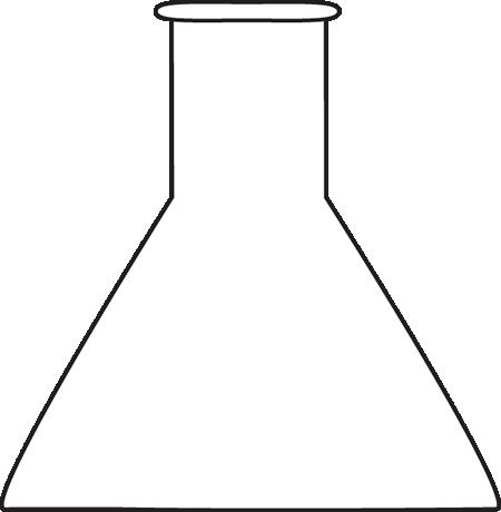 450x460 Black And White Beaker Clip Art