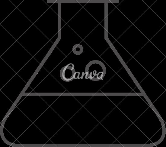 550x489 Outline Icon Of Beaker