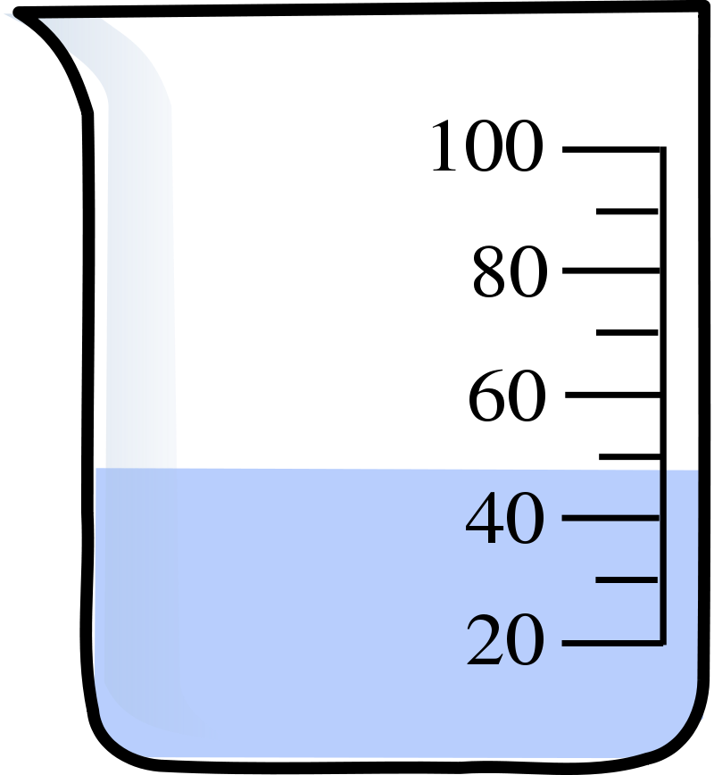 800x868 Beaker Of Water Clipart