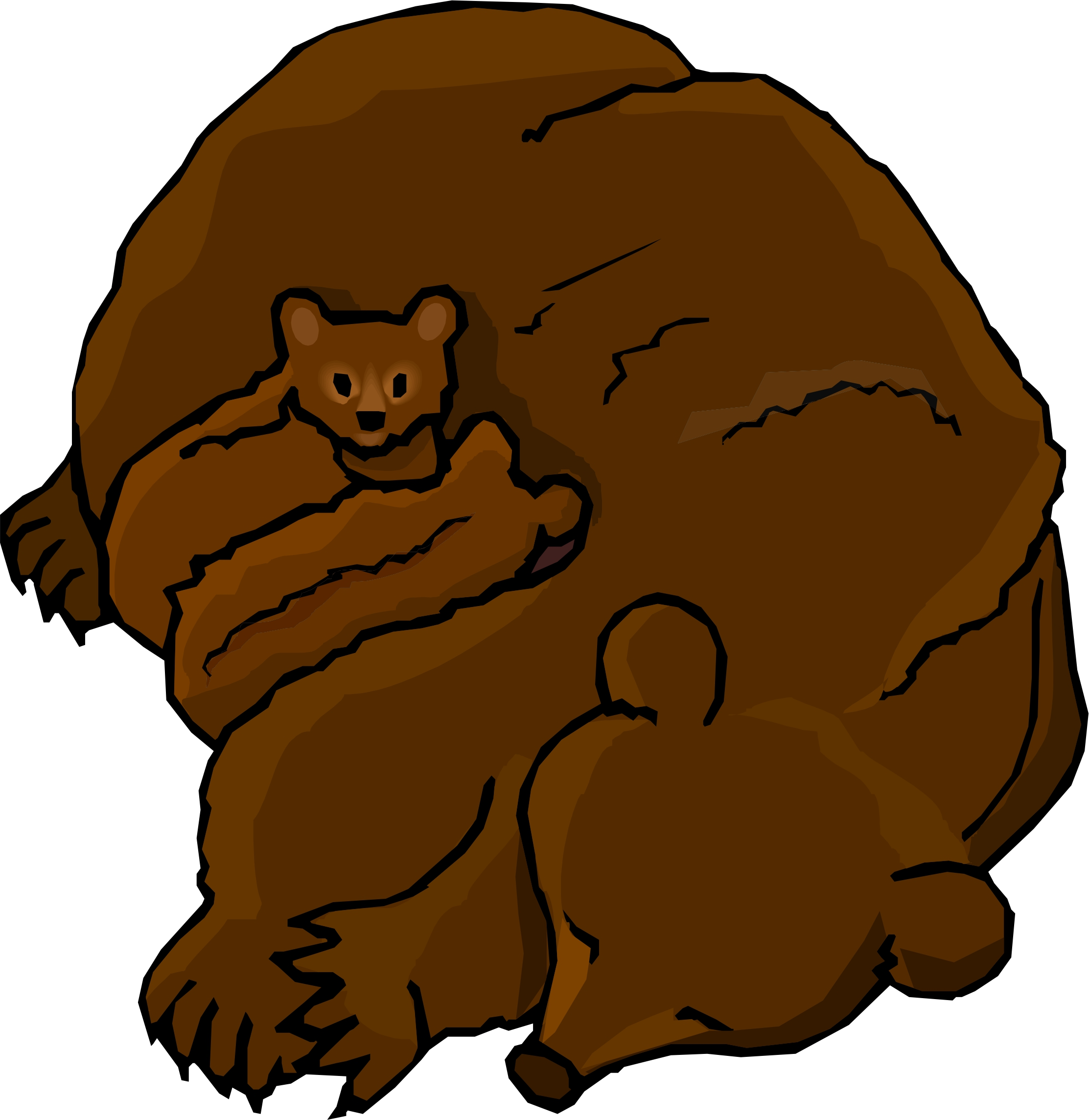 2225x2288 Standing Bear Clipart Free Images 2 2