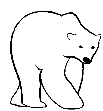 349x376 Polar Bear Clip Art Black And White Free Clipart 11